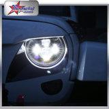 極度の明るい45W LEDはDRLのジープ7inch LEDのヘッドライトのための1つのLEDのヘッドライトおよびジープのためのハロートラックで運ぶ