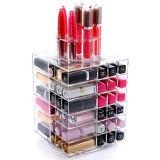 Hete Verkoop 360 Graad die de AcrylDoos van de Opslag van de Lippenstift roteren