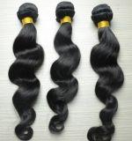 precio de fábrica de onda suelto el cabello humano 100% virgen trama