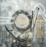 Handmade Huile sur toile abstraite (#G0011)