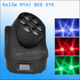 piccolo indicatore luminoso capo mobile dello zoom LED dell'occhio dell'ape 15W 6