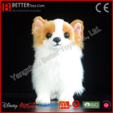 Cão macio realístico de Pomeranian do luxuoso do brinquedo do animal enchido de ASTM
