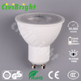 7W Bombilla LED GU10 lente PMMA regulable LÁMPARA DE LED Spotlight
