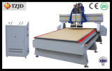 Машина CNC Woodworking Двойн-Головки Tzjd-1325D