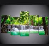 [إك] ودّيّة [لرج فورمت] طبيعيّة مشهد صورة [جكل] نهر نوع خيش طبعة