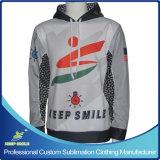 カスタムデザインの完全な昇華優れたプルオーバーのフード付きのセーター