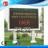 Departamento de la barra que hace publicidad de la tarjeta móvil al aire libre de la muestra de la visualización LED