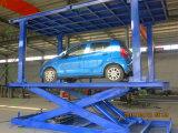 Double levage de véhicule de ciseaux de paquet pour le stationnement de garage