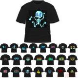 T-shirt d'EL de la musique DEL de palonnier de gradient