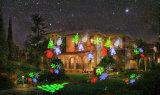 日の軽いプロジェクターがある特有な休日の表示アニメーションのクリスマスの照明の感謝