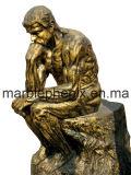 Kunst-Figürchen-Bronzeskulptur für Dekoration