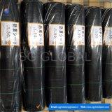 China negra de plástico tejida PP piso cubierto de maleza de tela Mat