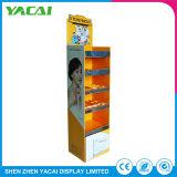 Papel do piso interior reciclado suporte de monitor de exposições de cosméticos para lojas