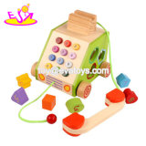Neues heißestes intelligentes hölzernes Kind-Spielzeug-Telefon für täuschen Spiel W12D081 vor