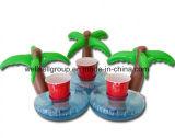 PVC膨脹可能なココヤシの木の木水おもちゃの飲み物のコークスのコップ
