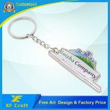 Anello chiave nichelato in lega di zinco personalizzato professionista con stampa di marchio dell'azienda (XF-KC11)