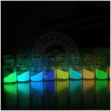 Resplandor verde claro del polvo del fósforo del color de Ocrown en la capa fotoluminiscente oscura del polvo del pigmento luminoso del polvo