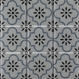 Modèle d'art de la mosaïque de la série de fleurs