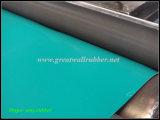 Hoja de goma antiestática compuesta negra verde, hoja antiestática, estera antiestática