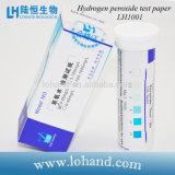 Papier réactif de petit de volume peroxyde de hydrogène de poids léger/bandes pour l'essai chimique