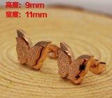 De vlinder Gevormde Oorring van de Nagel van het Roestvrij staal van Juwelen