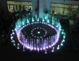 Aço inoxidável Venda inteira Música Fonte de água interior com luz LED colorida