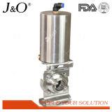 Válvula de borboleta sanitária da alta qualidade com atuador de alumínio