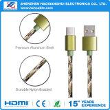Los accesorios del teléfono móvil de tipo C Cable USB