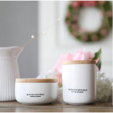 Candela di ceramica del vaso della cera profumata bianca della soia