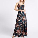 Платье выскальзования одежд Blackless женщин способа тонкий напечатанное цветком