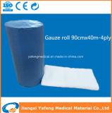 100%年の綿の親水性の吸収性の医学のガーゼロール90cmx40m-4ply