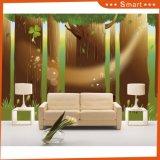 Bedstraw Herb in The Forest Décoration murale Peinture à l'huile pour enfants