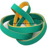 Cinghie piane di gomma gialle/verdi di disegno di nylon ad alta velocità del panino di energia di trasporto
