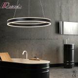 Lampe pendante acrylique circulaire moderne de DEL pour la chambre à coucher