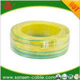 Flama dos fios elétricos - o retardador H07V-R 450V/750V Plain o fio de cobre desencapado recozido