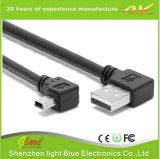OEM de embalaje de ángulo recto mini cable USB