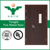 Porte évaluée d'incendie intérieur pour des hôtels, des salles et le bureau