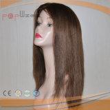 As mulheres cheias cheias da forma da beira do plutônio da base do laço de 100% Handtied Short perucas