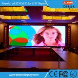 중국 2017 HD 알루미늄 내각을%s 가진 실내 P1.923 풀 컬러 LED 스크린