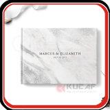Cuaderno de mármol de encargo de la huésped del libro de la boda