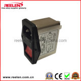 6A EMI van het Type van Contactdoos van Pool van de enige Fase Enige Filter met het Certificaat van Ce RoHS (cw2c-6a-t)