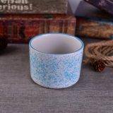 Sostenedor de vela de cerámica del punto colorido