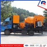 Caminhão de bomba de misturador de tambor de betão com pistão (JBC40-P)