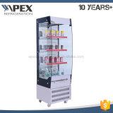 Refrigerador do indicador do supermercado da bebida, Showcase ereto