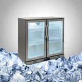 нержавеющая сталь морозильной камере со стеклянной двери