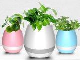 Haut-parleur sec de bacs d'usine de fleur de musique de Bluetooth avec la lumière