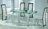Mesa de jantar de vidro temperado parte Superior