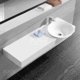 Lavabo de vanité de pierre de salle de bains de modèle de rectangle