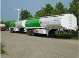 半52000liter BPWの車軸アルミニウム燃料タンクアルミニウムトレーラー