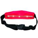 Saco elástico da correia de cintura do esporte com luz do diodo emissor de luz